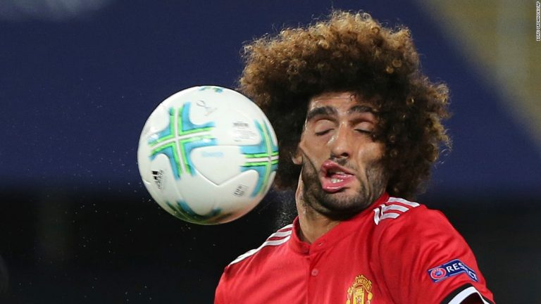 Marouane Fellaini headshot slow motion