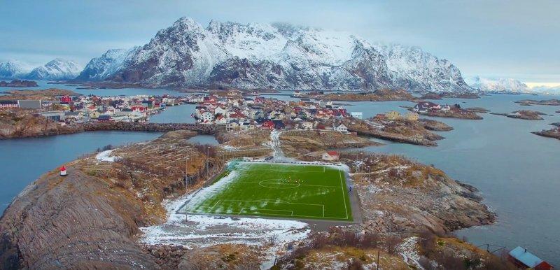 Henningsvaer Soccer Stadium Norway