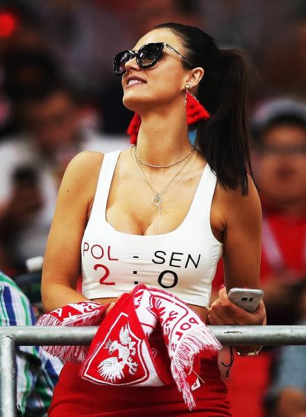 polish fan in russia hot soccer girl