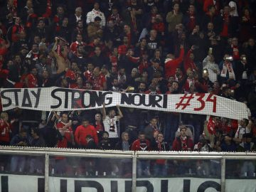 Benfica Fans Nouri Support