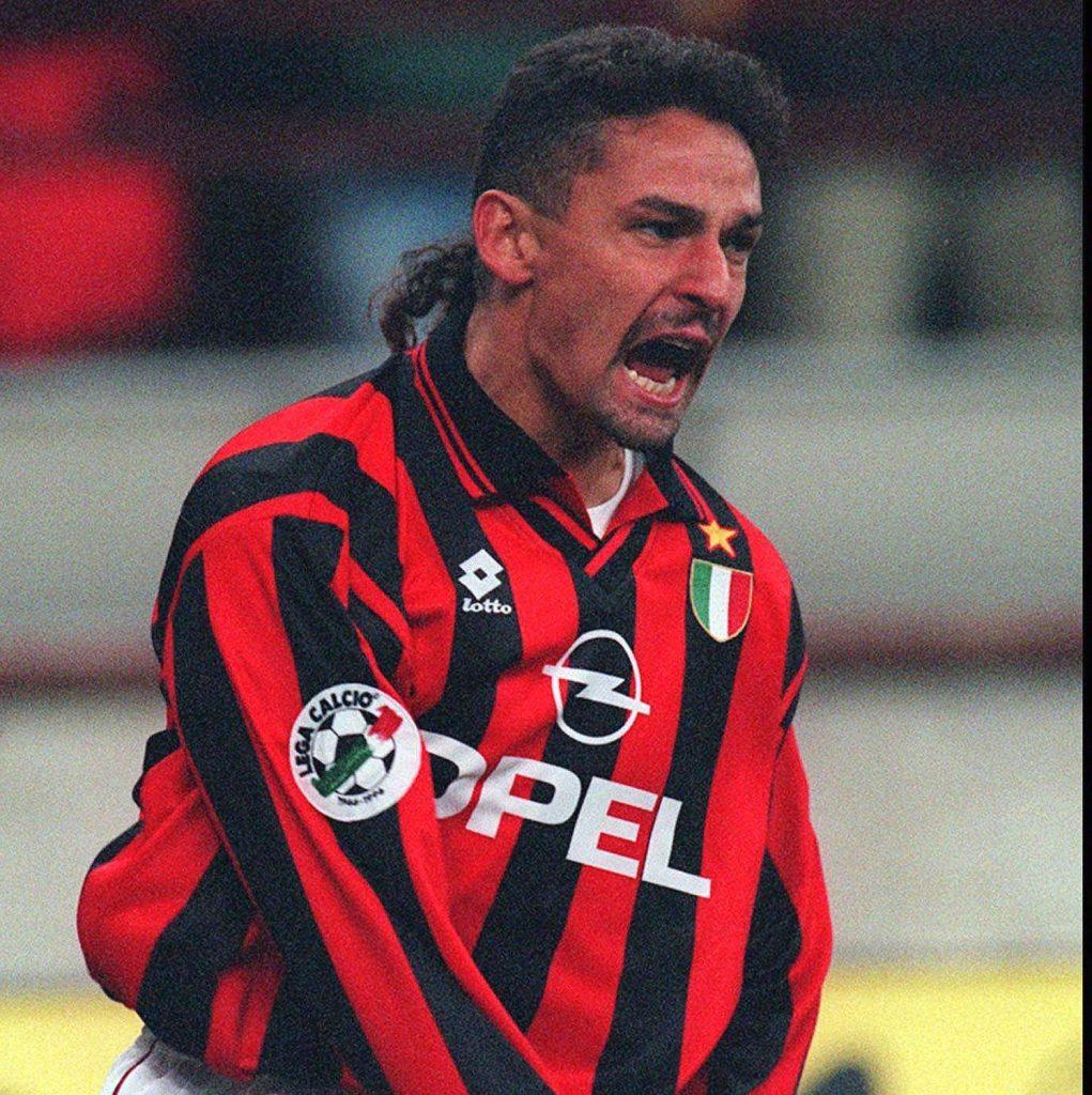 Soccer Legends Roberto Baggio Milan