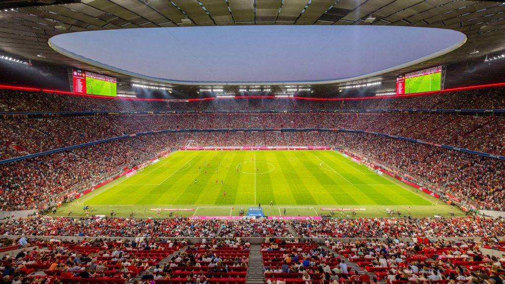 Soccer Stadiums Allianz Arena Inside