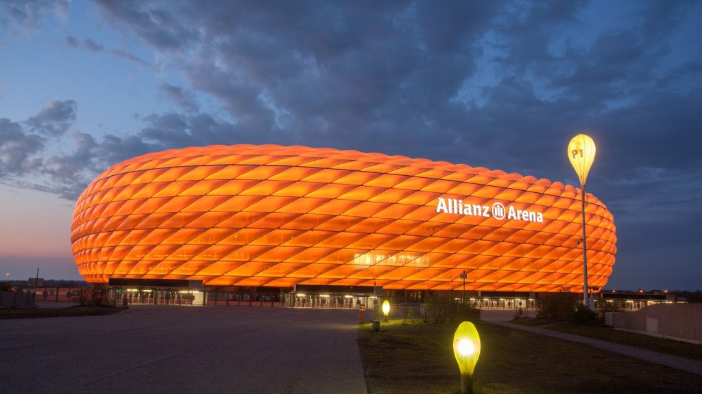 Soccer Stadiums Allianz Arena Orange