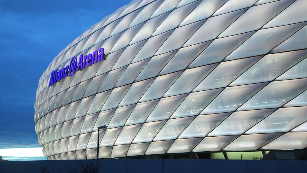 Soccer Stadiums Allianz Arena White