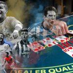 soccer legends playing poker