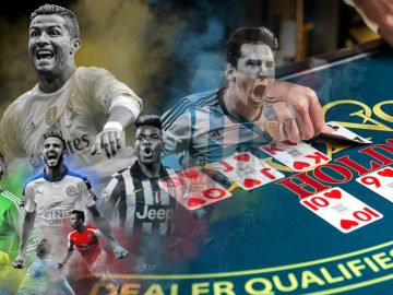 soccer legends playing poker