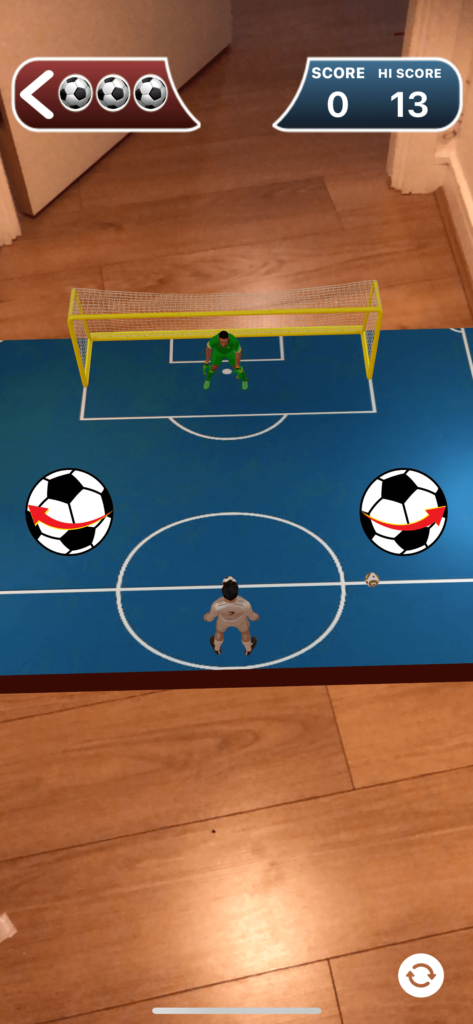 Penalty Shootout AR gameplay